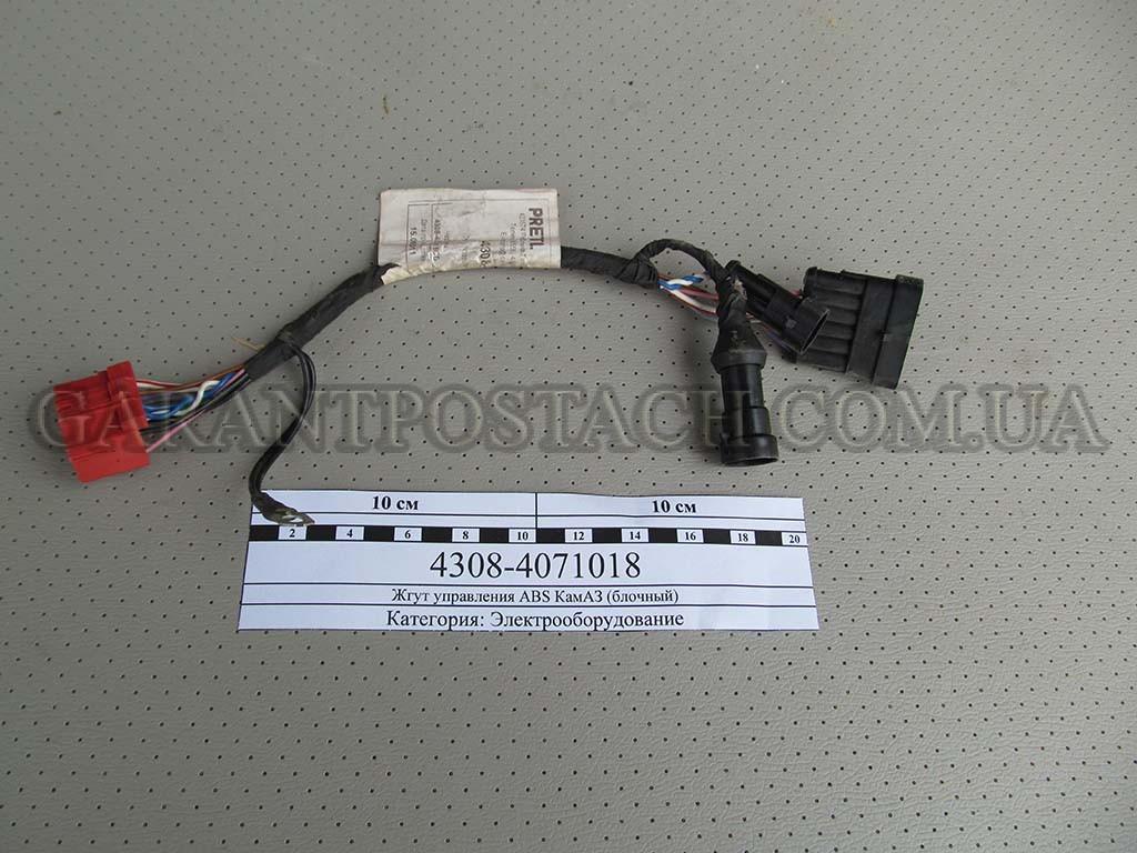 Жгут управления ABS КамАЗ (блочный) (Россия) 4308-4071018