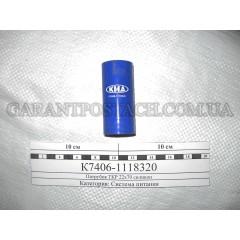 Патрубок ТКР КамАЗ 22х70 (силикон) (пр-во: КМД, Россия)
