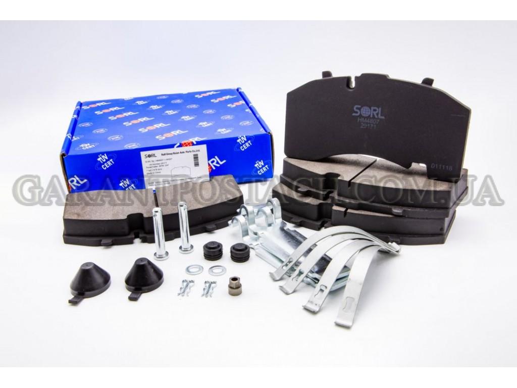 Колодки тормозные дисковые BPW, SAF, SCHMITZ, KNORR, SB4309T (SK7) (SORL) HM4807+AK007 (29171)