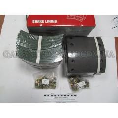 Накладка тормозная, к-т 8шт+заклепки 80шт 420x200 STD BPW, DAF, SAF(SORL)