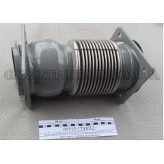Металлорукав КамАЗ 65115 Cummins с шарниром (115х150, L=300мм) (КМД)